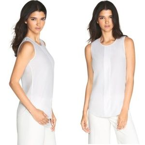 WHBM SILK PLEAT-FRONT SHELL